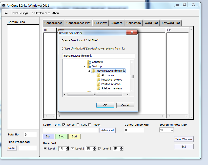 browse for directory inside folder